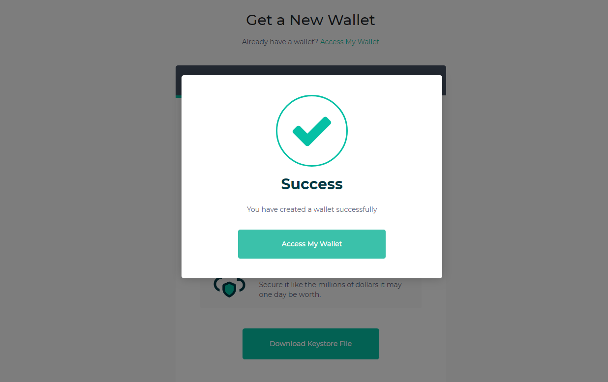 myetherwallet-successfully-created