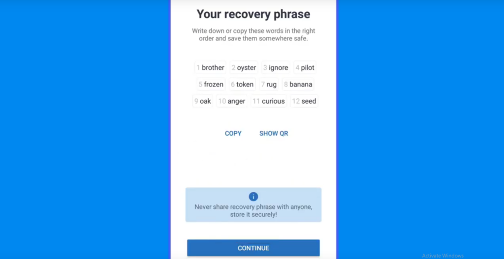 the backup recovery key for restoring your wallet and back to access your funds safely otherwise nobody is responsible for your funds even the trust wallet team or support.