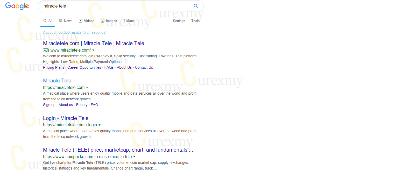 miracle-tele-ad-running-on-google-searches