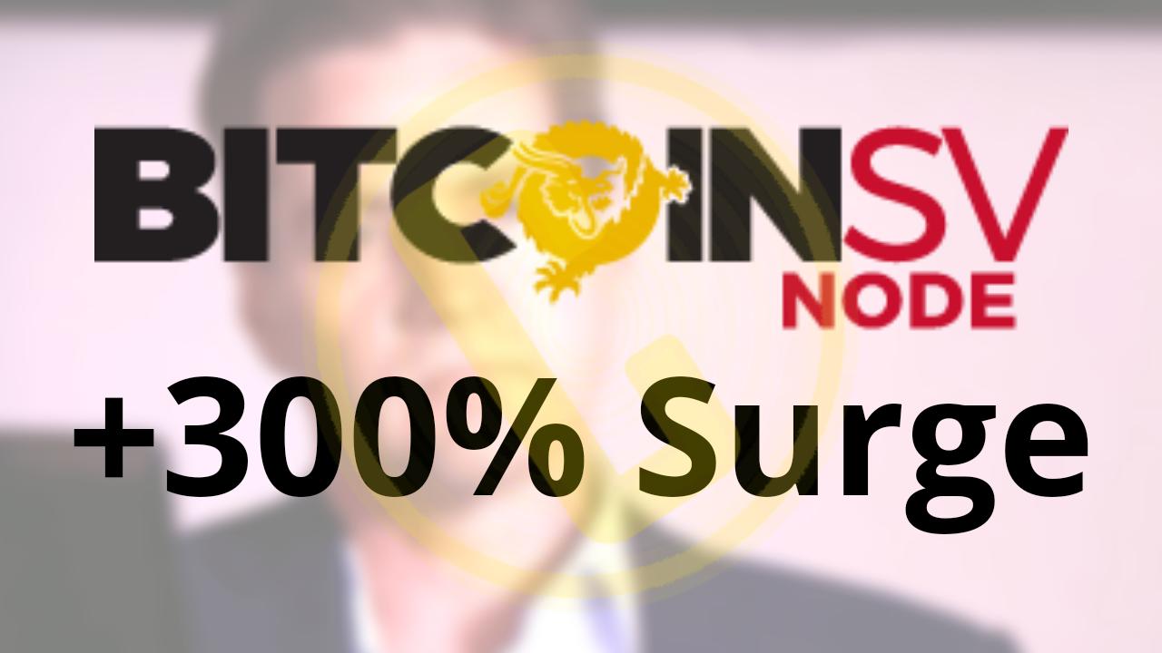 Bitcoin SV Satoshi Vision Make Higher High of +300% Craig Wright Rumors