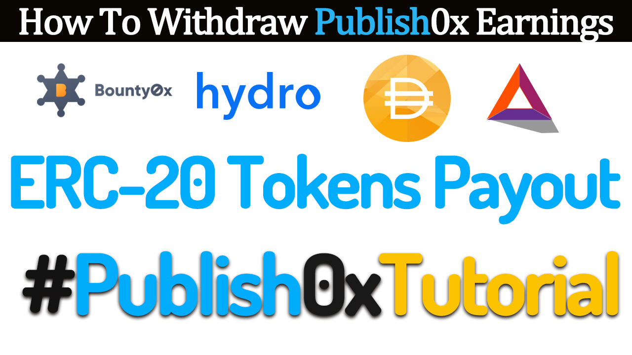 How to Withdraw Your Publish0x Earnings into Your MyEtherWallet