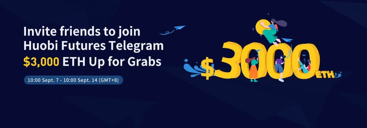 Huobi Exchange $3000 Futures Telegram Group Invitation Giveaway